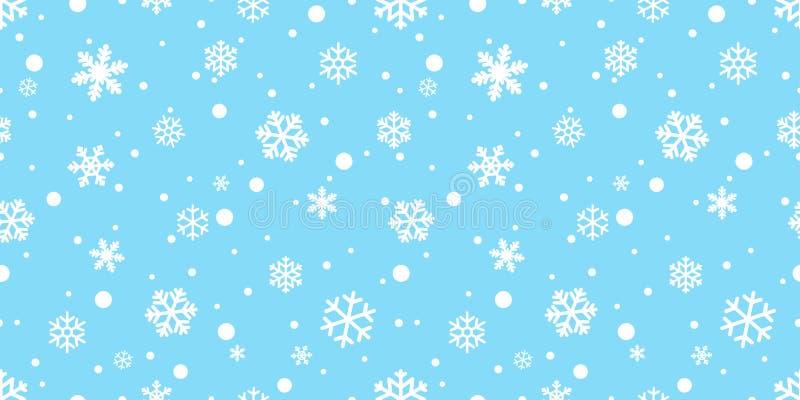 Snowflake το άνευ ραφής μαντίλι Άγιου Βασίλη Χριστουγέννων χιονιού Χριστουγέννων σχεδίων διανυσματικό που απομονώνεται επαναλαμβά ελεύθερη απεικόνιση δικαιώματος