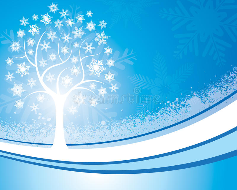 Snowflake υπόβαθρο δέντρων απεικόνιση αποθεμάτων