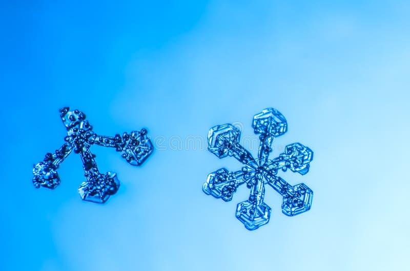 Snowflake φυσική μακροεντολή κρυστάλλου στοκ φωτογραφία με δικαίωμα ελεύθερης χρήσης