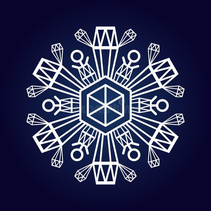 Snowflake χειμερινό σύμβολο ελεύθερη απεικόνιση δικαιώματος