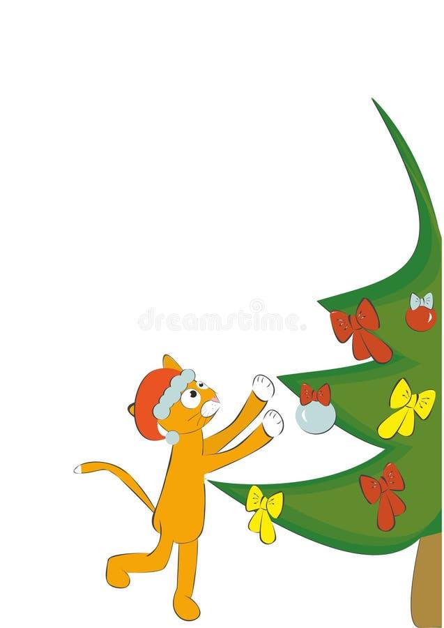 snowflake χιονιού γατακιών απεικόνισης Χριστουγέννων γατών χειμώνας στοκ φωτογραφίες με δικαίωμα ελεύθερης χρήσης