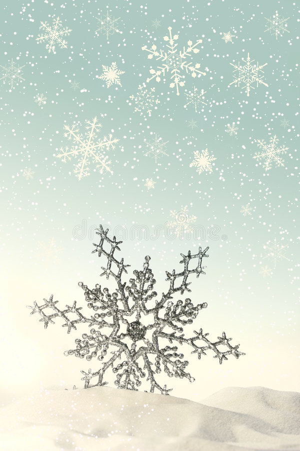 snowflake χιονιού σπινθήρισμα στοκ φωτογραφία