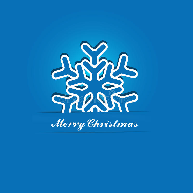 Snowflake Χριστουγέννων διάνυσμα Applique διανυσματική απεικόνιση