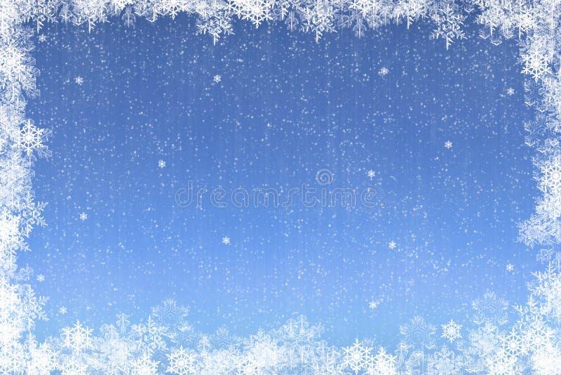 snowflake Χριστουγέννων καρτών διανυσματική απεικόνιση