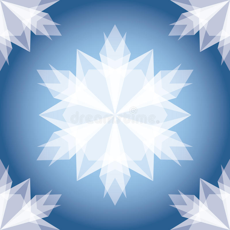 Snowflake Χριστουγέννων της Λευκής Βίβλου. διανυσματική απεικόνιση