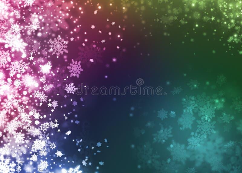 Snowflake Χριστουγέννων όμορφο ζωηρόχρωμο αφηρημένο υπόβαθρο απεικόνιση αποθεμάτων