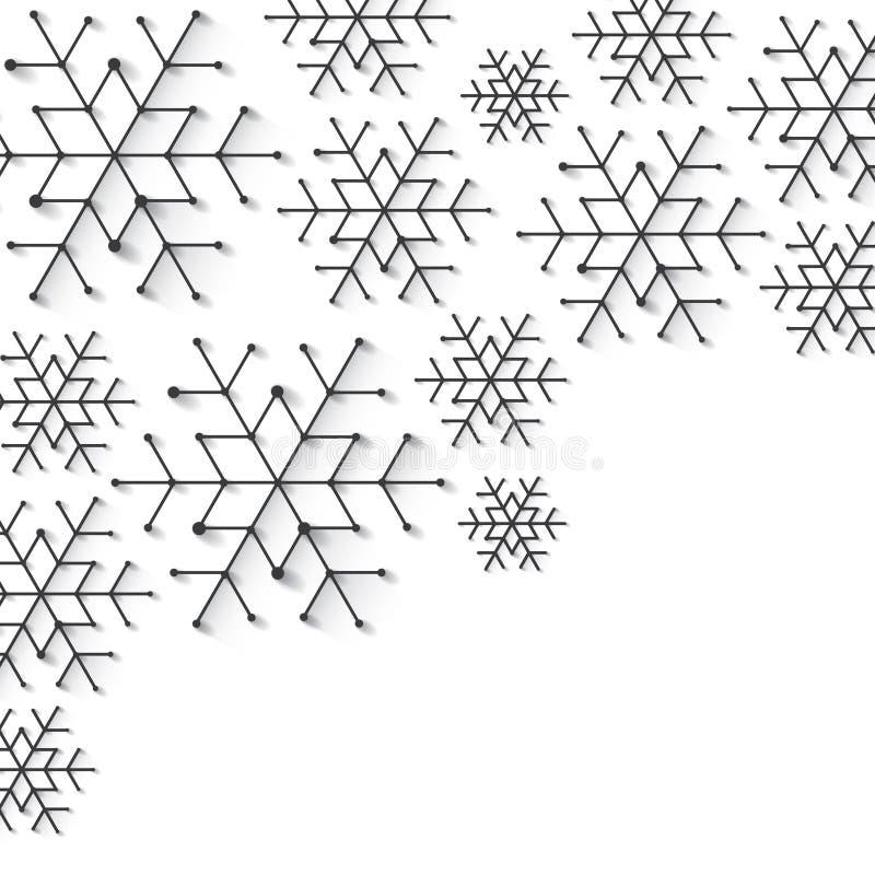 Snowflake Χριστουγέννων Minimalistic υπόβαθρο Απλά χαμηλό πολυ χειμερινό θέμα στοκ εικόνες με δικαίωμα ελεύθερης χρήσης
