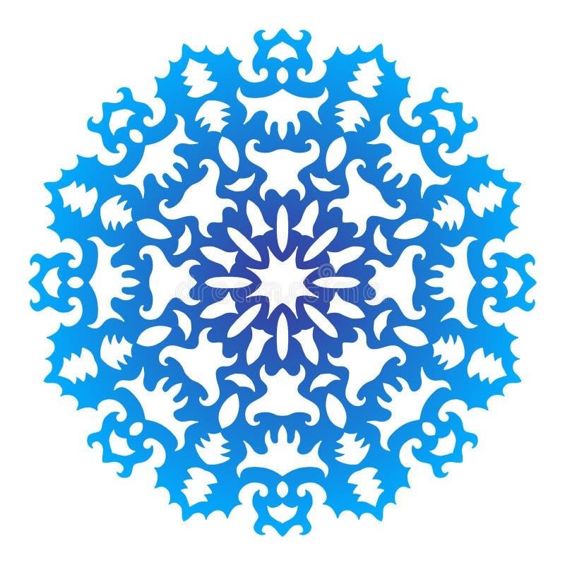 Snowflake χρώματος, δαντέλλα Έγχρωμη εικονογράφηση στο άσπρο υπόβαθρο απεικόνιση αποθεμάτων