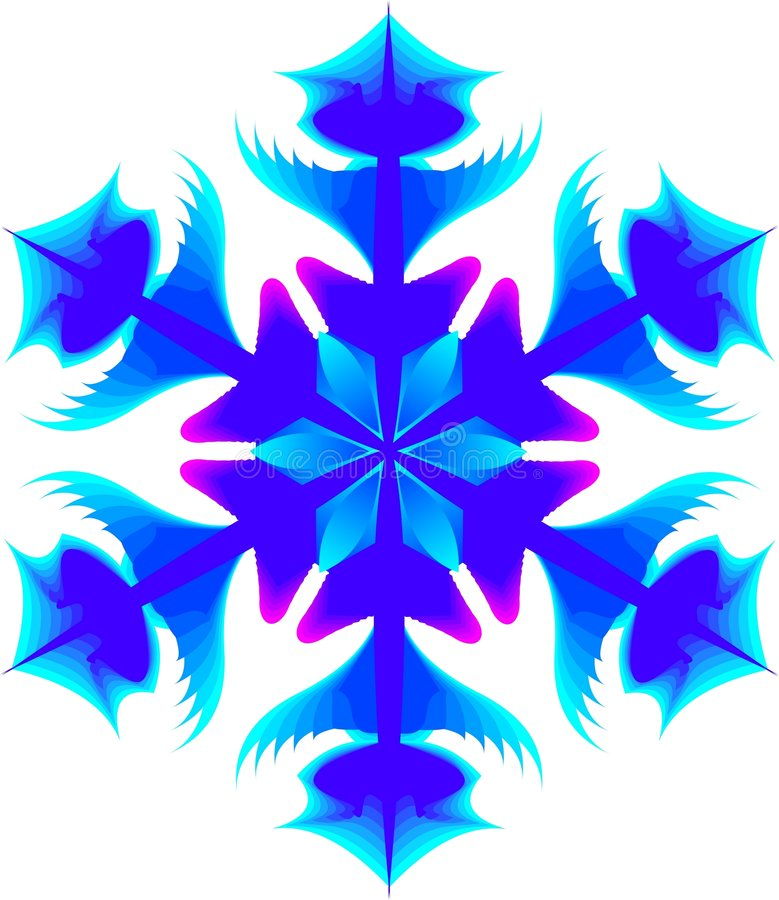 Download Snowflake stock illustration. Image of flakes, symmetry - 293848