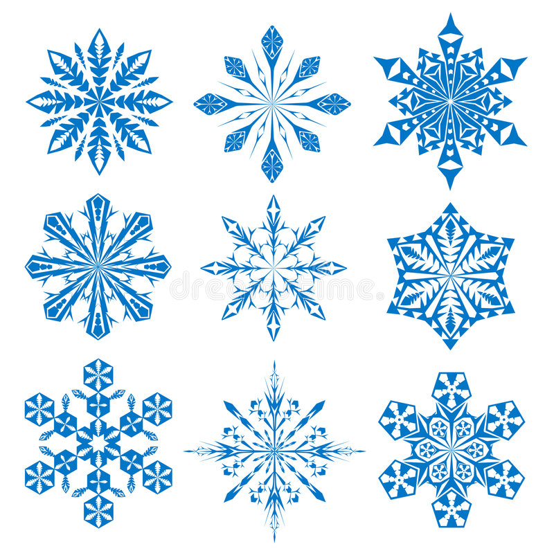 Snowflake. A set of vectorial snowflake