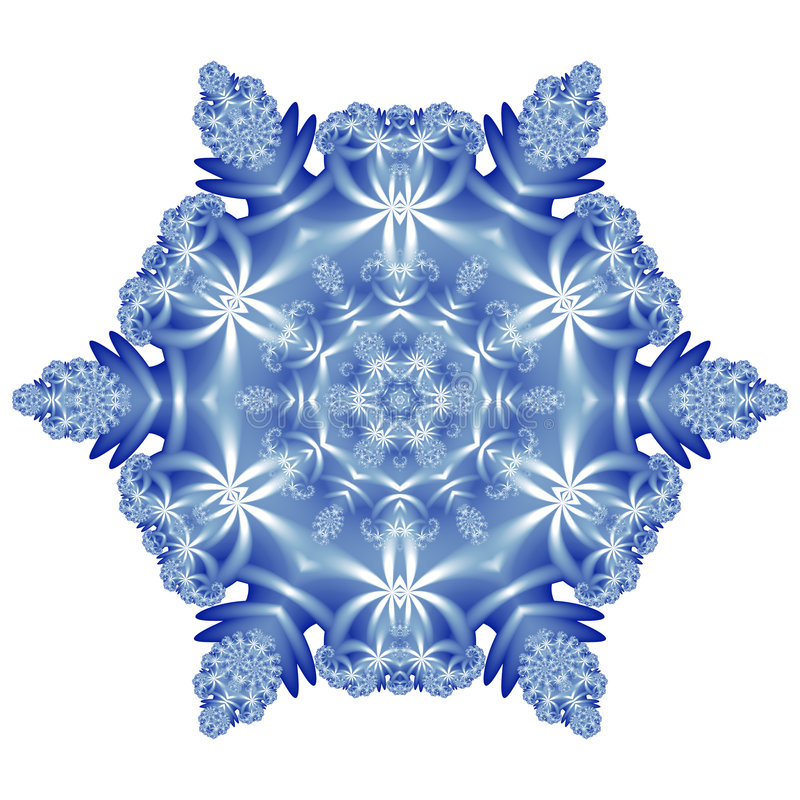 Download Snowflake stock illustration. Illustration of fractal - 7633716