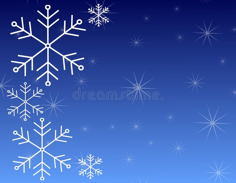 Snowflake Background Pattern 3. A backgrounds pattern illustration of snowflakes set against a blue gradient background with ample space for text or other items vector illustration