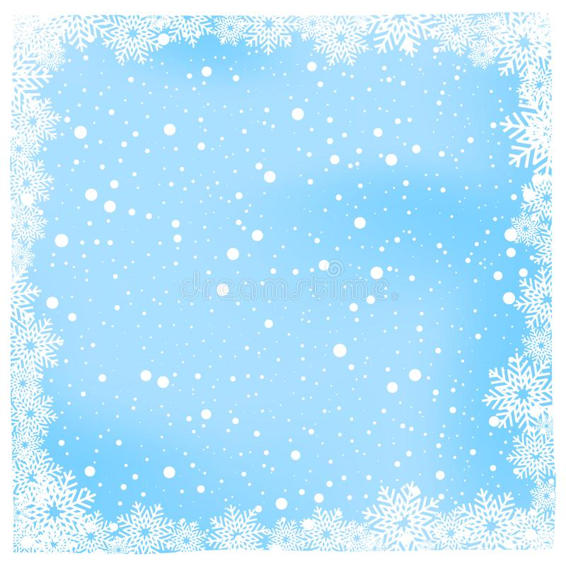 christmas snow and winter background vector illustration stock illustration