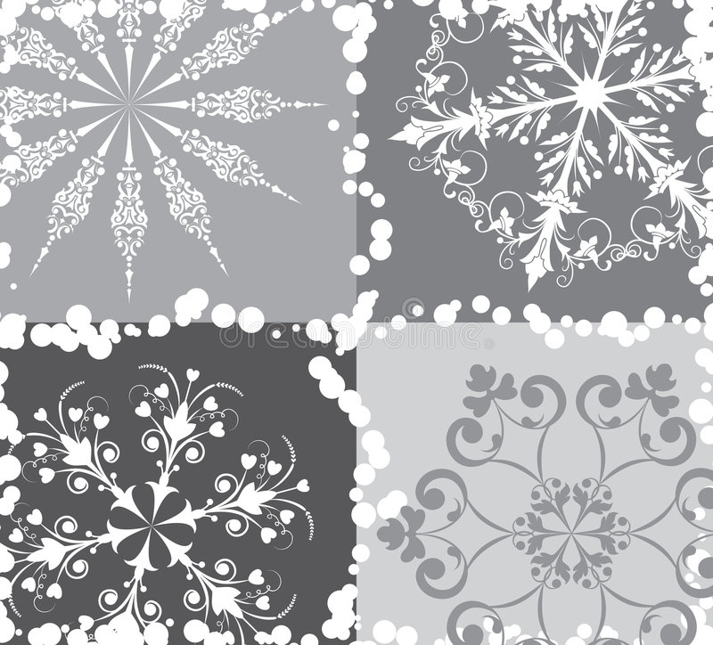 Free Snowflake Background, Vector Royalty Free Stock Photography - 1222547