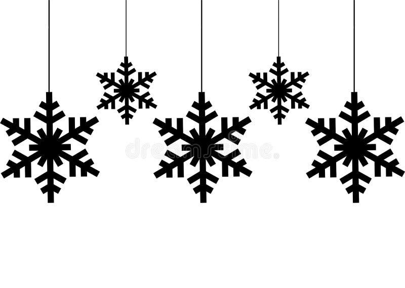 Snowflake black silhouette royalty free illustration