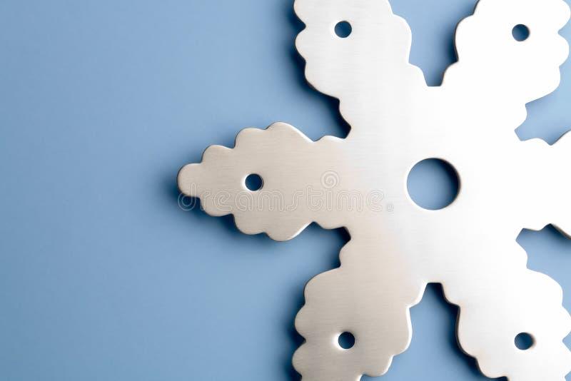 Snowflake on blue royalty free stock image