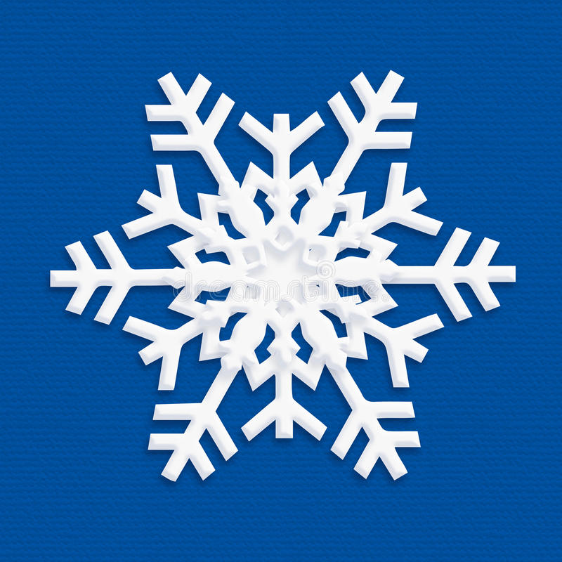 SNOWFLAKE 2019 blue craft paper stock illustration