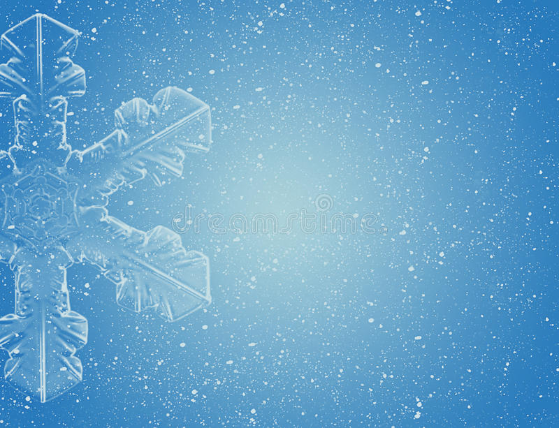 Snowflake on blue sky royalty free illustration