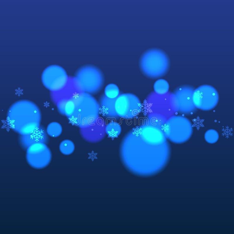 Snowflake bokeh Χριστουγέννων αφηρημένο υπόβαθρο απεικόνιση αποθεμάτων