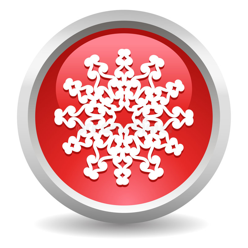 Download Snowflake button stock vector. Image of white, holiday - 7337372
