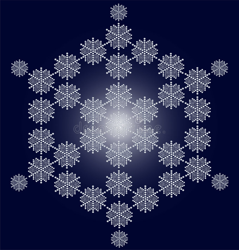 Download Snowflake christmas card stock vector. Illustration of gift - 6931814
