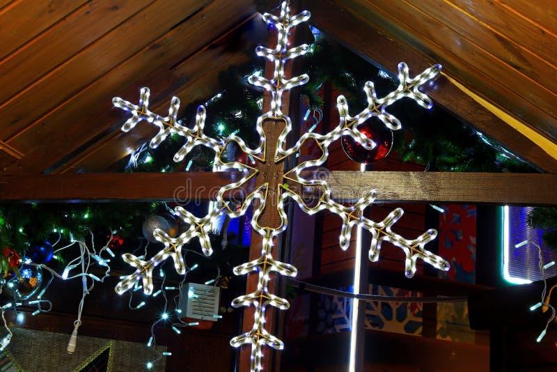 Snowflake christmas garland royalty free stock photo