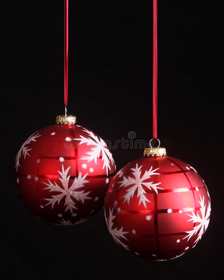 Download Snowflake Christmas Ornaments With Copy Space Stock Image - Image: 11451057