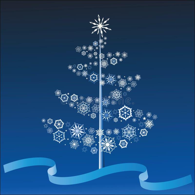 Snowflake Christmas tree vector illustration