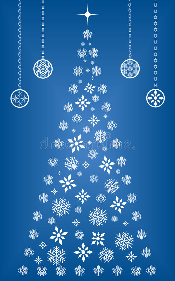Download Snowflake Christmas tree stock vector. Image of design - 6254859