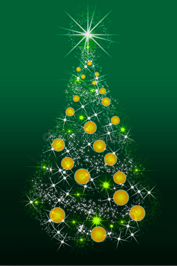 Download Snowflake Christmas Tree  And Place For Your Text Stock Illustration - Image: 17305054