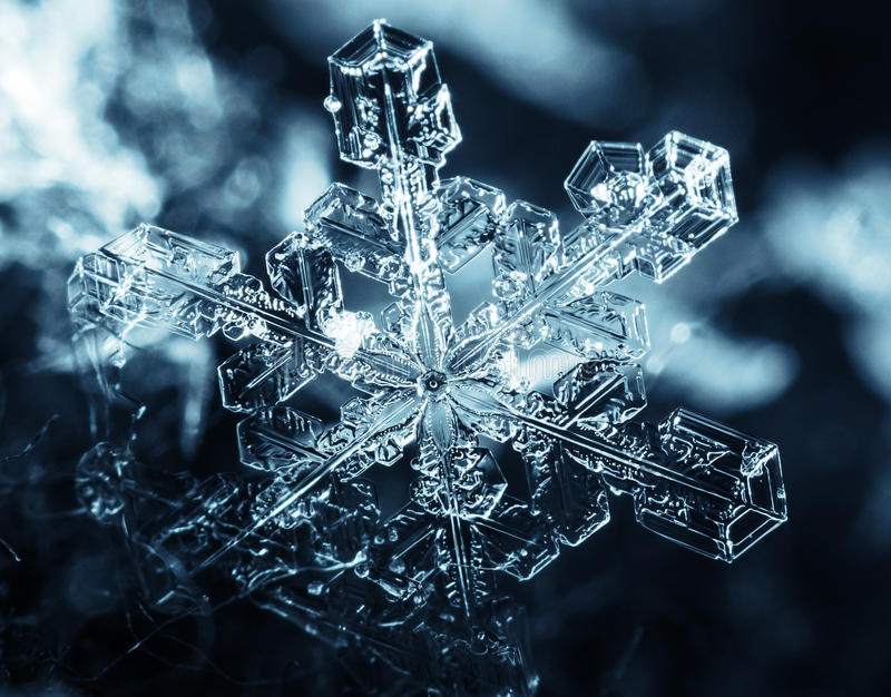 Snowflake. Close-up, with lots of detail royalty free stock image