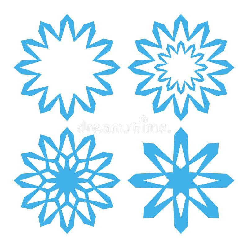 snowflake conjunto stock de ilustración