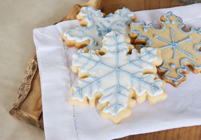 Snowflake cookie background