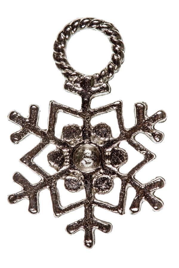 Snowflake, decorative element, isolated on white background stock photo