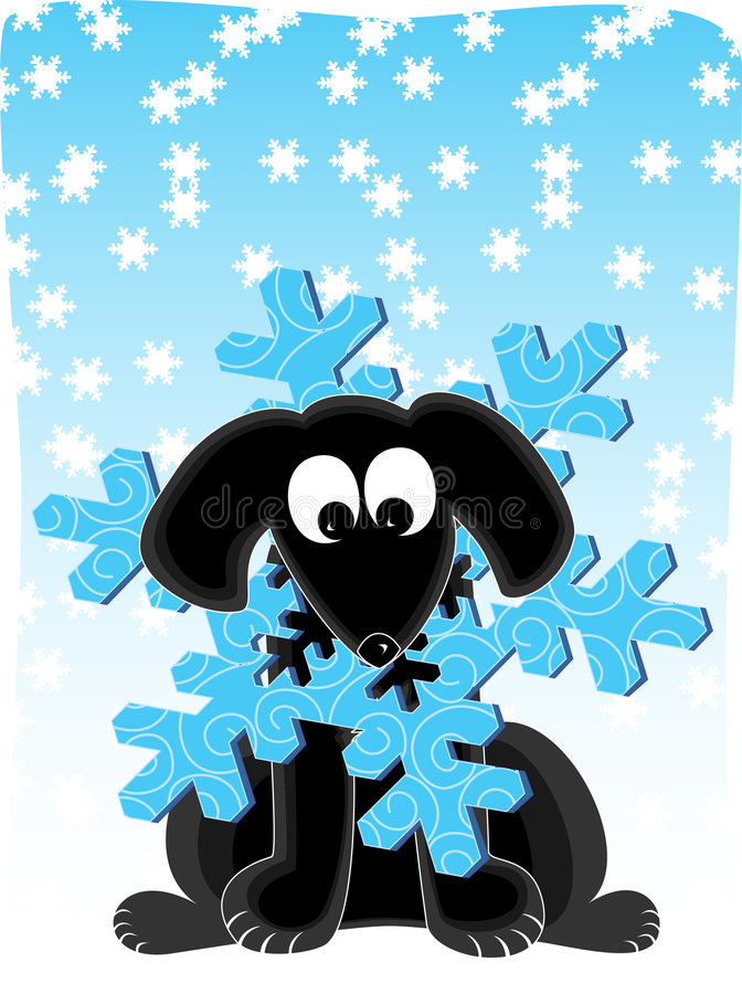 Download Snowflake Dog stock vector. Image of illustration, season - 1466277