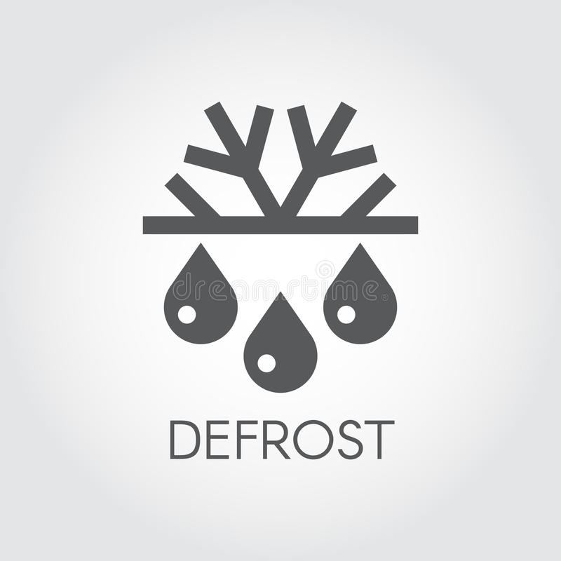 Snowflake and drop flat icon. Symbol of defrosting, air conditioning and change of seasons concept. Snowflake and drop icon. Symbol of defrosting, air vector illustration