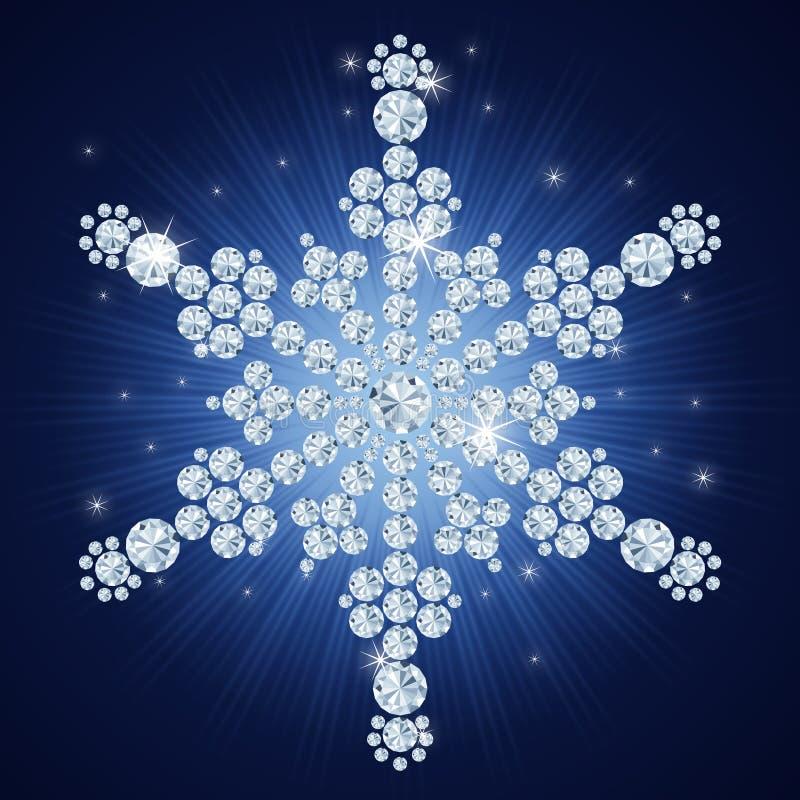 snowflake för bakgrundsjuldiamant stock illustrationer