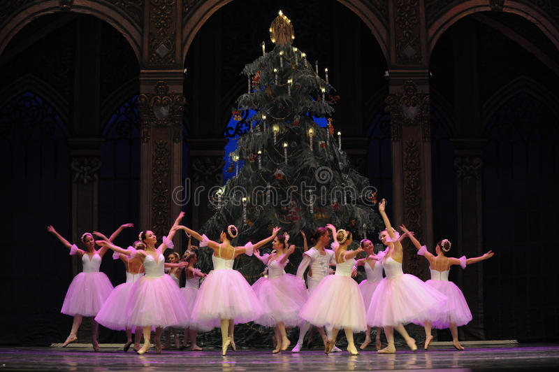 The snowflake Fairy- The second act second field candy Kingdom -The Ballet Nutcracker. Ukraine Kiev theatre ballet dancers perform the Nutcracker in Nanchang in stock photos