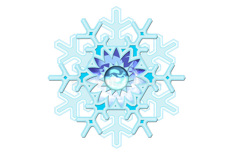 Snowflake Fantasy vector illustration