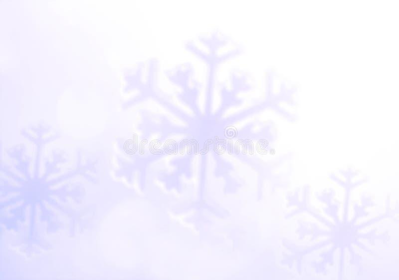 snowflake Fond de vacances d'hiver, fond mou image stock