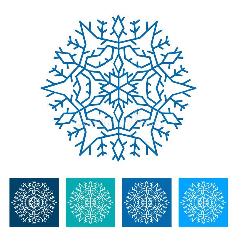 snowflake Graphisme d'an neuf illustration de vecteur