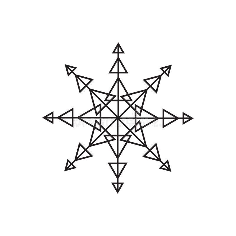 Snowflake icon. Christmas and winter theme on white background stock illustration
