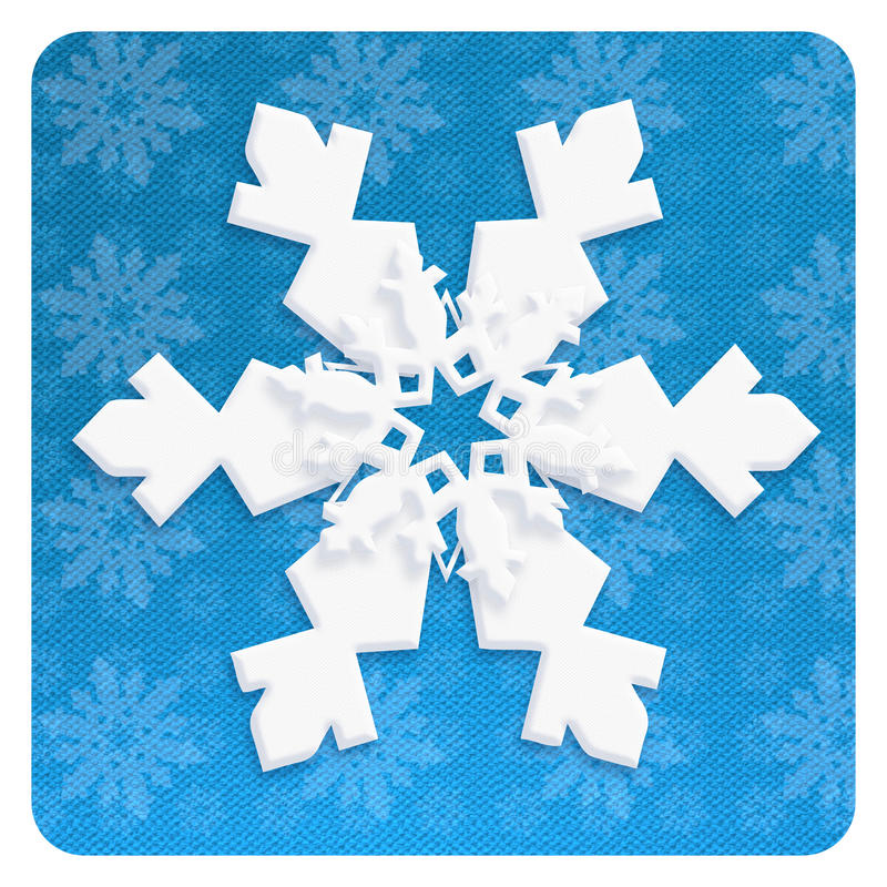 SNOWFLAKE wallpaper craft christmas blue decoration. Christmas card 2019. Chinese Paper cut style. Winter Snow Christmas decoration wallpaper. Snowfall. Snowy royalty free illustration