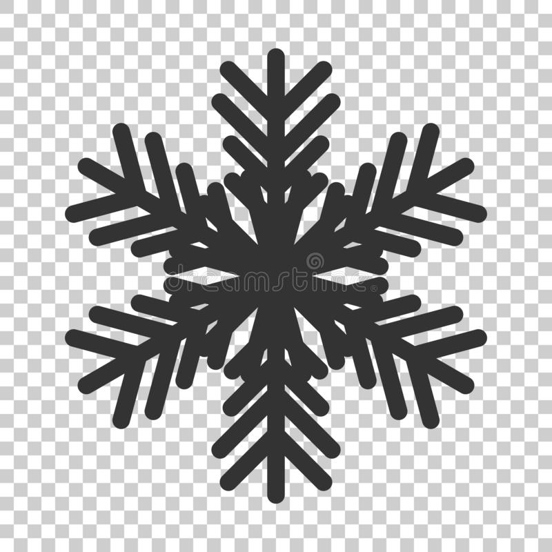Snowflake icon in flat style. Snow flake winter vector illustration on isolated background. Christmas snowfall ornament business. Concept vector illustration