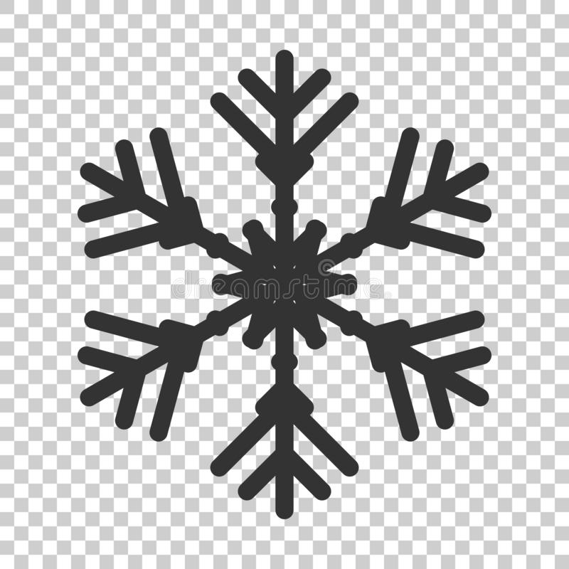 Free Snowflake Icon In Flat Style. Snow Flake Winter Vector Illustration On Isolated Background. Christmas Snowfall Ornament Business Royalty Free Stock Photos - 130598798