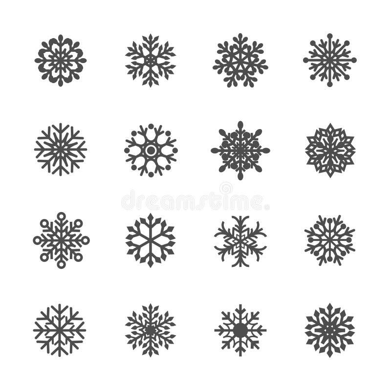 Snowflake icon set 4, vector eps10 royalty free illustration
