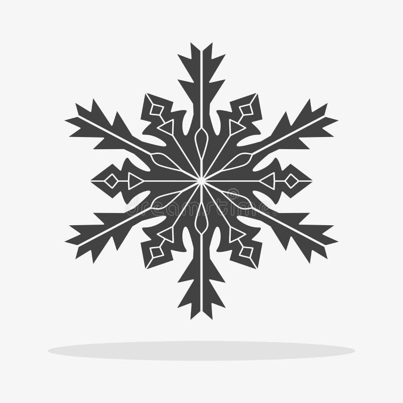 snowflake icon vector flat stock image