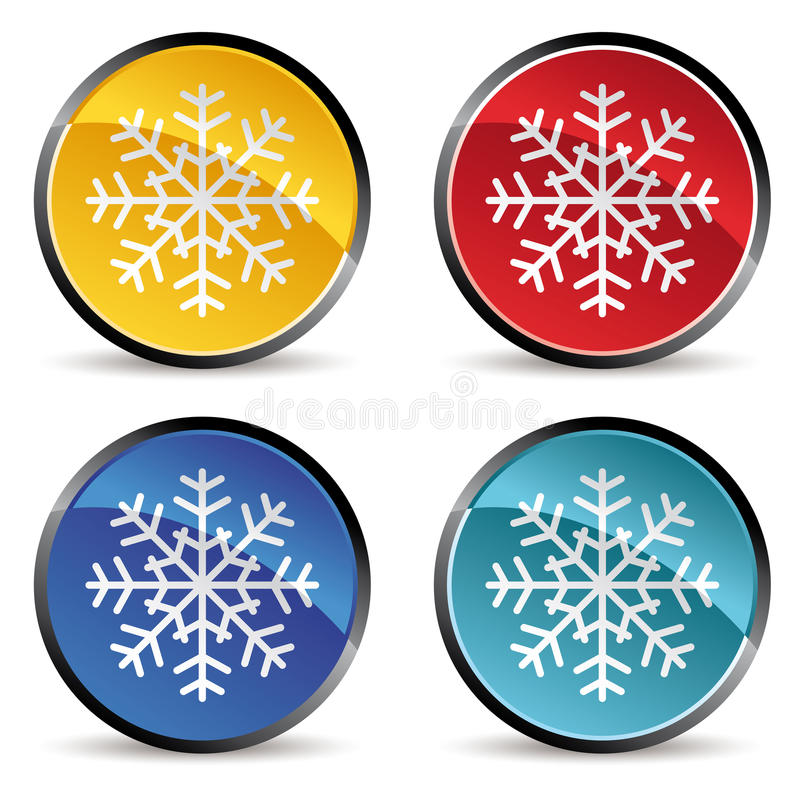 Download Snowflake Icons Stock Photo - Image: 12524870