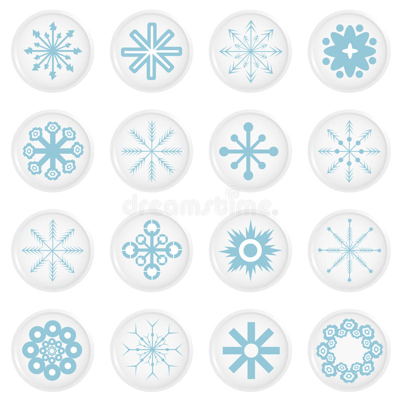 Download Snowflake icons stock vector. Image of concepts, background - 16219048