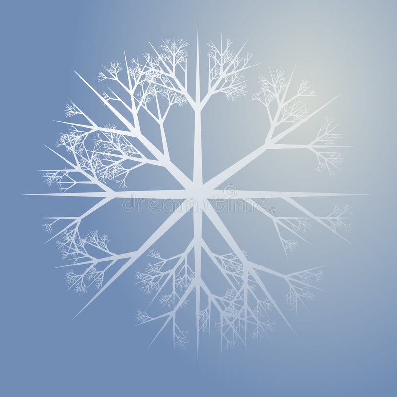 Snowflake illustration. Snowflake pattern design abstract illustration on gradient Vector illustration available for download. Click here for more vectors royalty free illustration